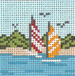 "318 Beached Sails 18 Mesh - 2"" Square Needle Crossings"