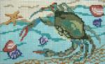 "353 ""Beached Crab"" 18 Mesh - 5"" x 3"" Needle Crossings"