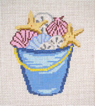 "329-13  Bucket of Shells 13 Mesh - 4-3/4"" x 5-1/4""  Needle Crossings"
