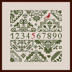 Dinky-Dyes Monasterium Designs M-WQS2 Willie's Quaker Square 2