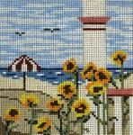 "98 Sunflower Beach 18 Mesh - 4"" Square  Needle Crossings"