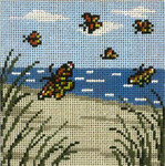 "99 Monarch Beach 18 Mesh - 4"" Square  Needle Crossings"