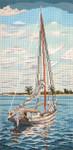 "2107 Sailing 13 Mesh - 9"" x 18"" Needle Crossings"