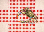 "2167 Crab on Tablecloth Brick Cover 13 Mesh 14"" x 10""  Needle Crossings"