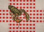 "#2166 Lobster on Tablecloth Brick Cover 13 Mesh 14"" x 10""  Needle Crossingsn"