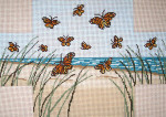 "#2168 Butterfly Beach Brick Cover 13 Mesh 14"" x 10""  Needle Crossingsn"