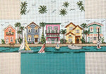 """2608 Living on the Water Brick Cover 13 Mesh 14"""" x 10""""  Needle Crossings"""