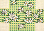 "230 Daisy Gingham Brick Cover 13 Mesh 14"" x 10""  Needle Crossings"