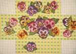 "231 Pansy Gingham Brick Cover 13 Mesh 14"" x 10""  Needle Crossings"