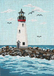 "#135 Santa Cruz Breakwater (CA) 18 Mesh - 5"" x 7""  Needle Crossingsn"