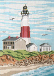 "114 Montauk Light (NY) 18 Mesh - 5"" x 7""  Needle Crossings"