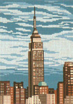 "409-13 Empire State Building 13 Mesh - 7"" x 9-1/2""   Needle Crossings"