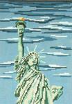 "410 Statue of Liberty 18 Mesh - 5"" x 7""  Needle Crossings"