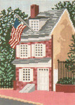 "401 Betsy Ross House 18 Mesh - 5"" x 7"" Needle Crossings"