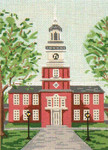 "402 Independence Hall 18 Mesh - 5"" x 7"" Needle Crossings"