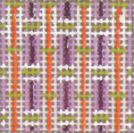 "1719 Mini Purple Pattern 18 Mesh 1-1/4""Square Needle Crossings"