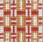"1723 Mini Red Sparkle Ribbons 18 Mesh 1-3/4"" Square Needle Crossings"
