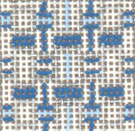 "1724 Mini Blue Sparkle Ribbons 18 Mesh 1-3/4"" Square Needle Crossings"