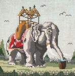 "152 Lucy the Elephant (Landmark in Margate, NJ) 18 Mesh - 6"" x 6"" Needle Crossings"