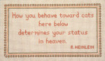 """29 Behavior Toward Cats 13 Mesh - 13"""" x 7-1/2"""" Needle Crossings Women & Cats 13 Mesh - 12"""" x 9"""" Needle Crossings"""