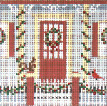 "1702 Holiday Visitors 18 Mesh - 3-1/4"" Square Needle Crossings"