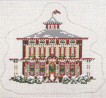 """1741 Southern Mansion Ornament 18 Mesh - 5-3/4"""" x 5"""" Needle Crossings"""