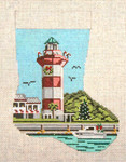 "1762 Hilton Head Light Mini Stocking18 Mesh 4-1/2"" x 6-1/4"" Needle Crossings"
