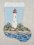 "1750 Lighthouse Mini Stocking 13  Mesh 4-1/2"" x 6-1/4"" Needle Crossings"
