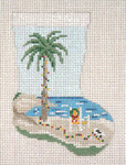 "1751 Beach Holiday Mini Stocking 13  Mesh 4-1/2"" x 6-1/4"" Needle Crossings"