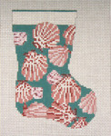 "1756 Scallop Shell  Mini Stocking 13 Mesh 4-1/2"" x 6-1/4"" Needle Crossings"