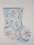 "1755 Sand Dollar  Mini Stocking 13 Mesh 4-1/2"" x 6-1/4"" Needle Crossings"