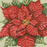 "210 Poinsettia 18 Mesh - 5"" Square Needle Crossings"