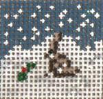 "1705 Mini Snow Bunny 1-1/4"" Square on 18 Mesh Needle Crossings"