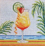 "1908  Tequila Sunrise 18 Mesh - 5"" Square Needle Crossings"