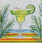 "1907  Classic Margarita 18 Mesh - 5"" Square  Needle Crossings"