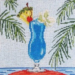 "1906  Blue Hawaii 18 Mesh - 5"" Square Needle Crossings"