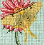 "774 Luna Moth 18 Mesh - 4"" Square Needle Crossings"