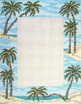 "5017 Palm Tree Frame 18 Mesh - 7"" x 9""  (photo opening 4"" x 6"" Needle Crossings"