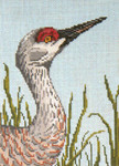 "1603 Sandhill Crane Head 18 Mesh - 5"" x 7""  Needle Crossings"