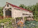 "1002 Mechanicsville Covered Bridge(OH) SUMMER 18 Mesh - 7"" x 5""  Needle Crossings"