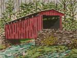 """1003 Thomas Mill Covered Bridge (PA) SPRING 18 Mesh - 7"""" x 5"""" Needle Crossings"""