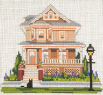"821 Saltwood House (Cape May, NJ) 18 Mesh - 5"" x 5""  Needle Crossings"