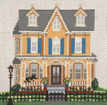 "187 Joseph Hall Cottage (Cape May, NJ) 18 Mesh - 5"" x 5""  Needle Crossings"