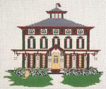 "174 Southern Mansion (Cape May, NJ) 18 Mesh - 8"" x 6"" Needle Crossings"
