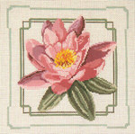 "201 Pink Water Lily 13 Mesh - 10"" Square Needle Crossings"