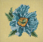 "207 Blue Poppy 13 Mesh - 12"" Square Needle Crossings"