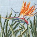 "224 Bird of Paradise 18 Mesh - 5"" Square Needle Crossings"