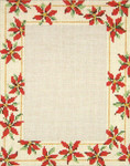 "5010 Poinsettia Frame 13 Mesh - 8"" x 10"" Photo Opening - 5"" x 7"" Frame may be used Horizontally or Vertically Needle Crossings"