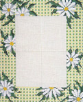 "5016 Daisy Gingham Frame 13 Mesh - 8"" x 10"" Photo Opening - 5"" x 7"" Frame may be used Horizontally or Vertically Needle Crossings"