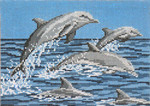 "1103 Frolicking Dolphins 18 Mesh - 7"" x 5"" Needle Crossings"
